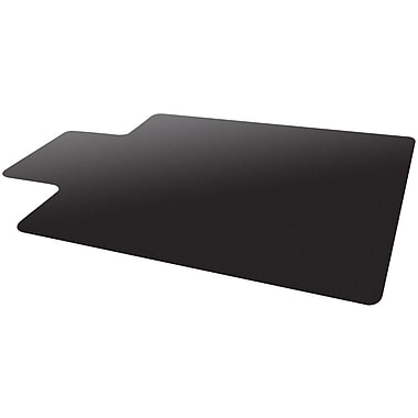Deflecto Blackmat Vinyl Chair Mat Studded, Wide Lip, 45in.x53in., Black