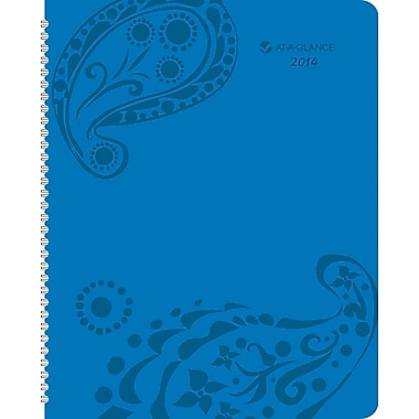 2014 AT-A-GLANCE® Paisley Professional Weekly/Monthly Appointment Book, 8 1/2in. x 11in.