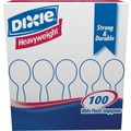Dixie® Heavy Weight Plastic Soup Spoons, White, 100/Pack