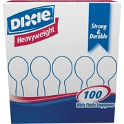 Dixie Heavyweight Plastic Soup Spoons, White, 100/Pack (SH207)