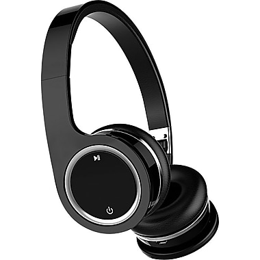 Aoni Bluetooth On Ear Headphones with Mic, Black