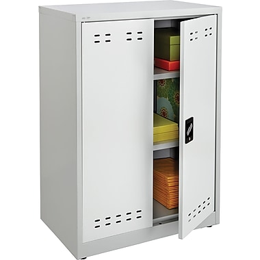 Safco 42in.H Steel Storage Cabinet, Gray