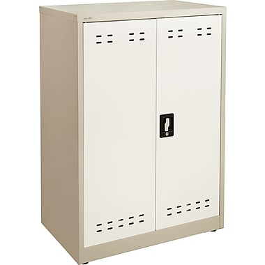 Safco 42in.H Steel Storage Cabinet, Tan