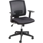"Safco® Mezzo™ Task Chair, Mesh Back with Upholstered Seat, Black, Seat: 18""W X 18""D, Back: 17 1/2""W x 18 1/2""H"