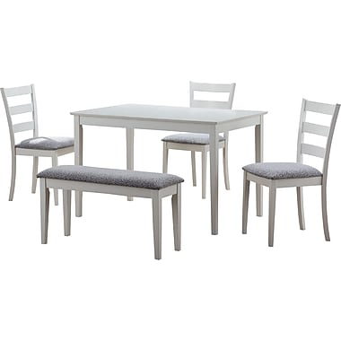 Monarch 5-Piece Dining Set, White