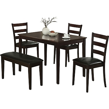 Monarch 5-Piece Dining Set, Cappuccino