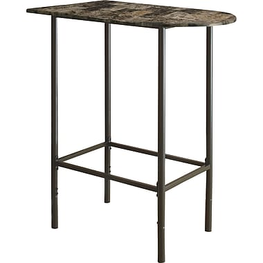 Monarch Marble/Coffee Metal Dining Table, Cappuccino