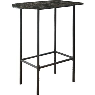 Monarch Marble/Charcoal Metal Spacesaver Dining Table, Grey