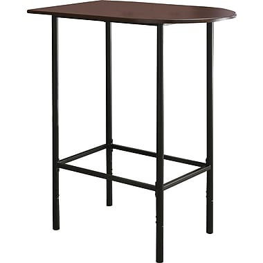 Monarch Metal Spacesaver Home Bar Table, Cappuccino/Black
