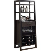 "Monarch 60""H Ladder Style Home Bar Unit, Cappuccino"