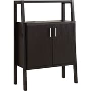 """Monarch 48""""H Home Bar Unit With Bottle And Glass Storage, Cappuccino"""