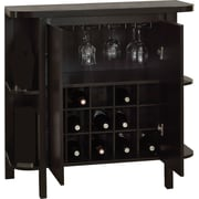 """Monarch 36""""H Home Bar Unit With Bottle And Glass Storage, Cappuccino"""