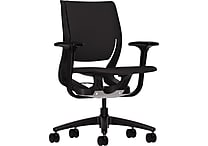 HON Purpose Task/Computer Chair for Office and Computer Desks, Onyx Frame, Black