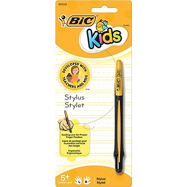 BIC® Kids Stylus, Black and Yellow, Each