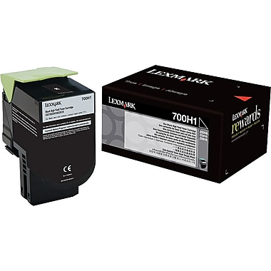 Lexmark 700H1 Black Toner Cartridge (70C0H10), High Yield