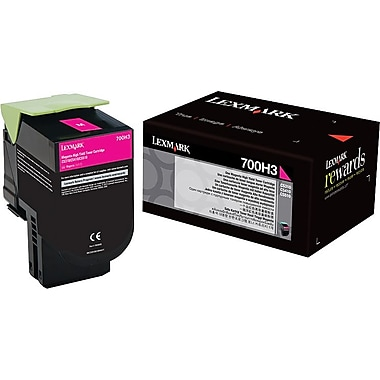 Lexmark 700H3 Magenta Toner Cartridge (70C0H30), High Yield