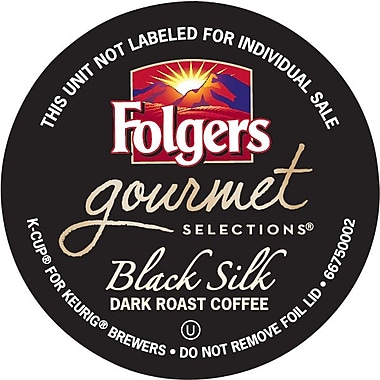 Folgers Gourmet Selections K-Cup Black Silk Coffee, Regular, 18/BX