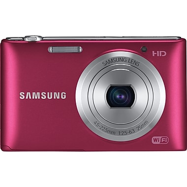 Samsung ST150F 16.2 MP Compact Camera With 5x Zoom, Red