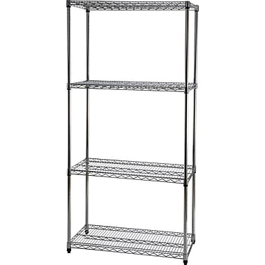 Staples® Wire Shelving, 4 Shelves, 72