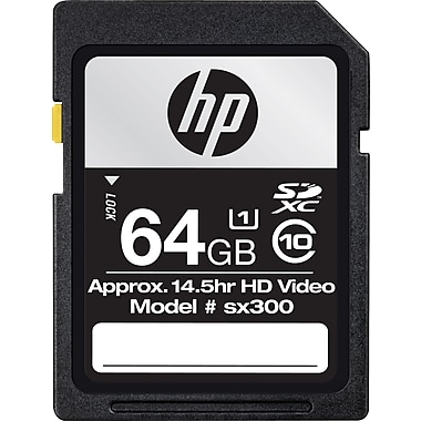 HP 64GB High Speed SDHC Class 10 Flash Memory Card