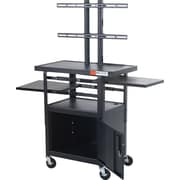 "Balt 46""- 62""H x 24""W x 18""D Height-Adjustable Flat Panel TV Cart Black (27710)"