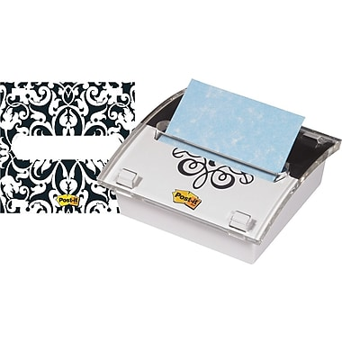 Post-it® 3in. x 3in. Designer Series Pop-Up Note Dispenser with Brocade Insert, Each