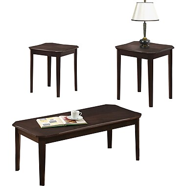 Monarch Veneer 3-Piece Table Set, Cappuccino Cherry