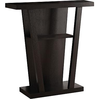 Monarch – Table console d'entrée de 32 po long., cappuccino