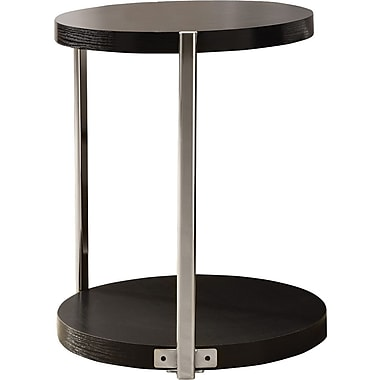 Monarch Metal Accent Table, Cappuccino / Chrome