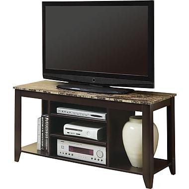 Monarch – Support pour téléviseur, 48 po long., fini marbre / cappuccino