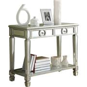Monarch – Table console de 38 po en longueur, miroitante, avec 2 tiroirs