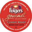 Folgers Gourmet Selections K-Cup Classic Roast Coffee, Regular, 18/BX