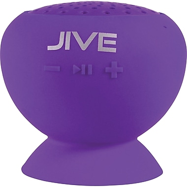 Digital Treasures Lyrix JIVE Bluetooth Water Resistant Speaker, Purple
