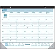 AT-A-GLANCE® 2015 Monthly Desk Pad Calendar, January - December, White, 22 x 17