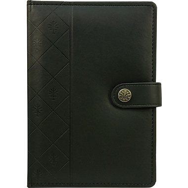 Staples Debossed Leatherette Journal, 8.5