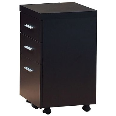 Monarch Specialties Hollow Core File Cabinet on Casters, Cappuccino