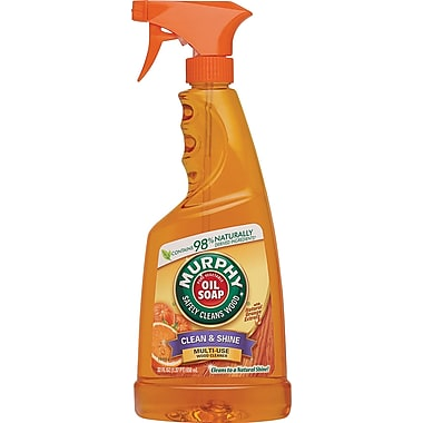 Murphy Oil Soap Mulit-Use Wood Cleaner Spray Formula with Orange Oil, 22 oz.