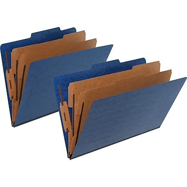 Pendaflex® Pressguard® Classification Folder, Blue, 2/Pack