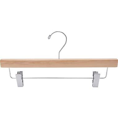Wooden Skirt / Pant Hanger w/ Steel Swivel Hook, 50/Pack
