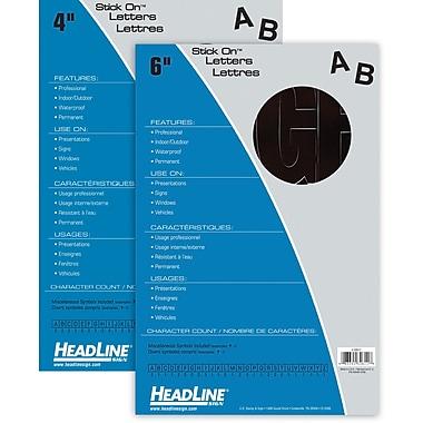 HeadLine® Black Stick On Letters