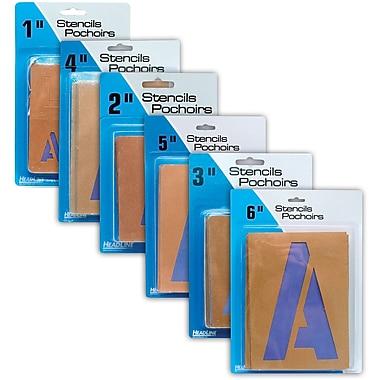 HeadLine® Stencils - Letters & Numbers