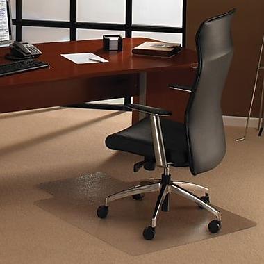FloortexMC – Sous-chaise en polycarbonate, pour tapis épais, rectangulaire avec languette, 48 x 53 po