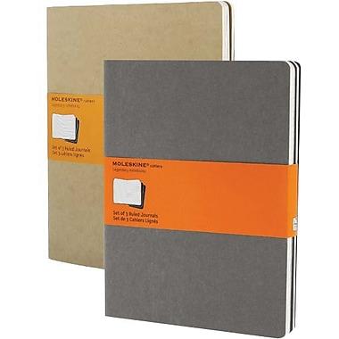 Moleskine® – Cahier à pages lignées, très grand format, 7 1/2 po x 10 po