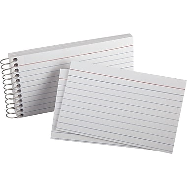 Staples® Spiral Index Cards, 3 x 5, 3/Pack