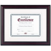 "Dax Prestige Document Wood Frame, Matted with Certificate, Rosewood with Black Trim, 11"" x 14"""