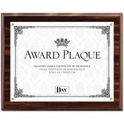 "Dax Award Plaque Acrylic and Wood Frame with Certificate, Walnut, 8 1/2"" x 11"""