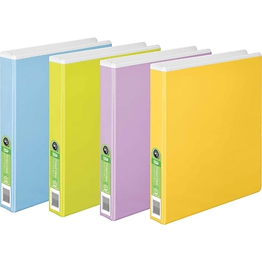 Wilson Jones® 100% Recycled Round Ring Binder, 1in., Assorted Colors