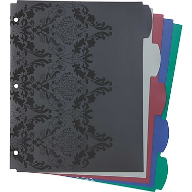 Wilson Jones® Recycled Dividers, 5-Tab, Assorted Colors