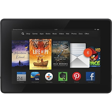 Amazon Kindle Fire HD (B00CTV5OIG) Tablet/e-Reader, 1.5GHz Dual-Core CPU, 1GB RAM, 8 GB HDD
