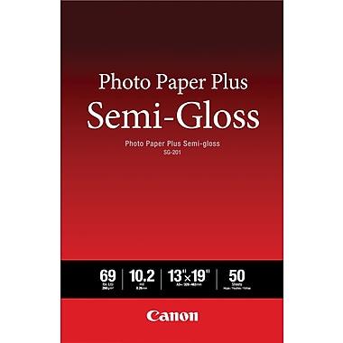 CanonMD – Papier Photo Plus, 13 po x 19 po, semi-glacé, pqt/50 feuilles